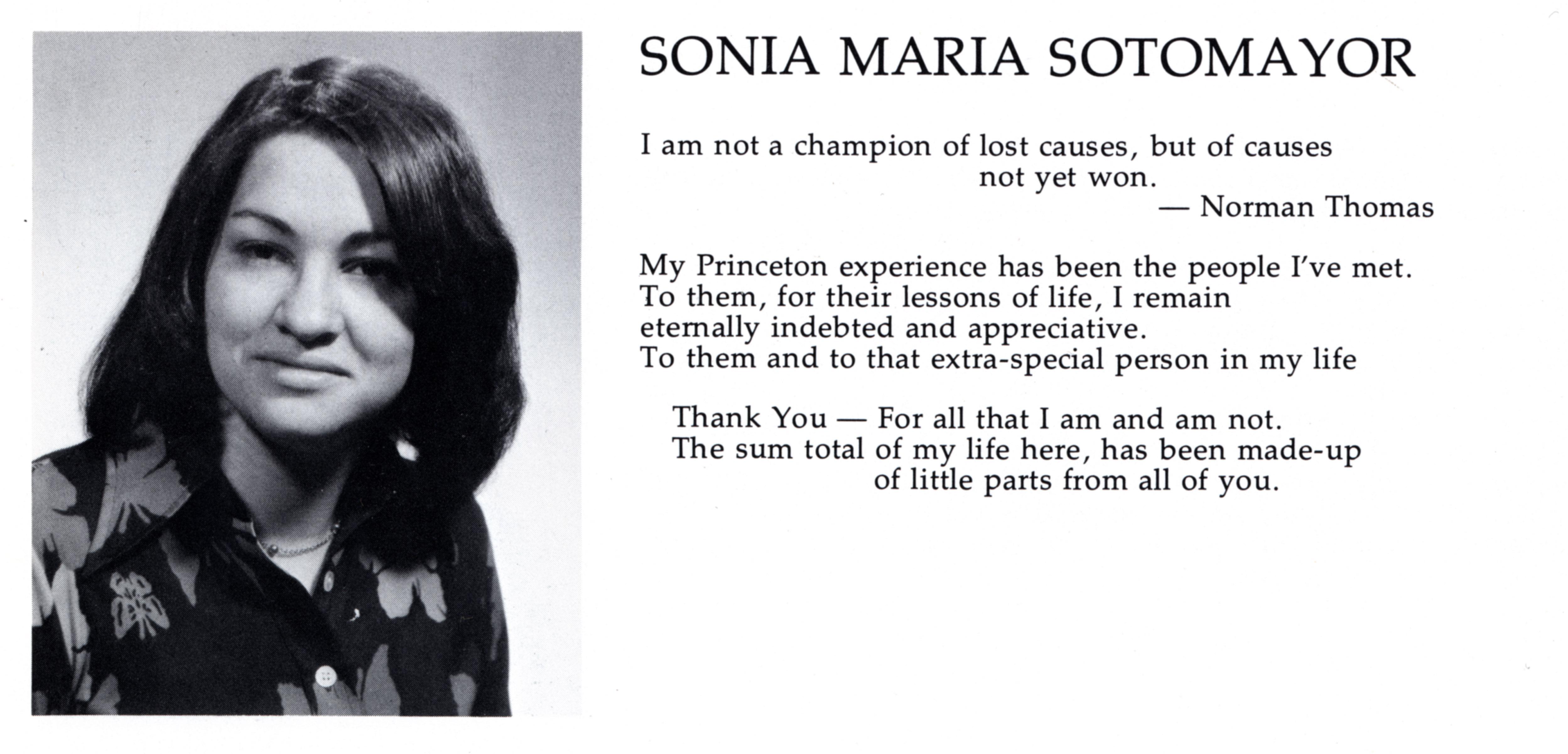 sonia sotomayor princeton senior thesis