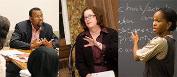 Professors Eddie Glaude, Wendy Belcher and Imani Perry